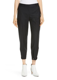 Nordstrom Signature Wool Blend Flannel Button Cuff Pants