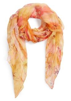 Nordstrom Silk Chiffon Oblong Scarf