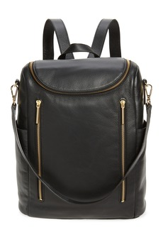Nordstrom Sodo Leather Backpack - Black