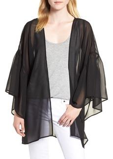 Nordstrom Solid Ruffle Sleeve Kimono