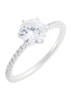 Nordstrom Solitaire Pavé Cocktail Ring