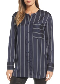 Nordstrom Signature Striped Patch Pocket Shirt