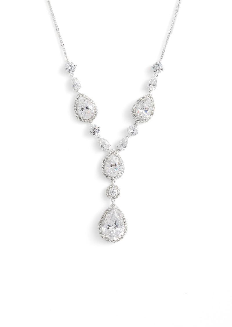 Nordstrom Teardrop Crystal Y-Necklace