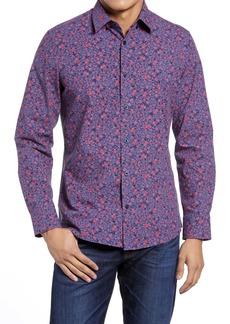 Nordstrom Tech-Smart Trim Fit Floral Button-Up Shirt