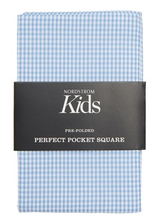 Nordstrom The Perfect Prefolded Gingham Pocket Square (Boys)