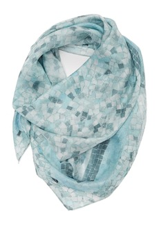 Nordstrom 'Tiled Border' Square Silk Scarf