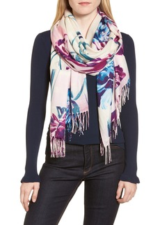 Nordstrom Tissue Print Wool & Cashmere Wrap Scarf