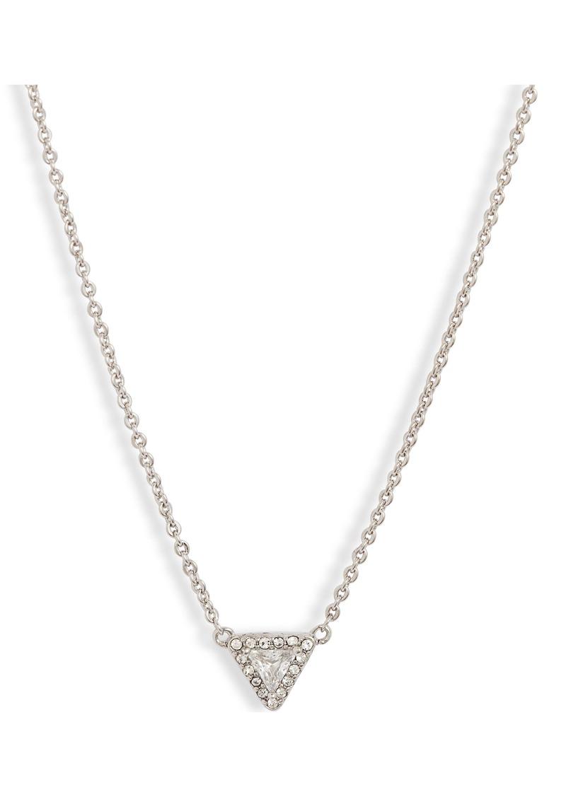 Nordstrom Triangle Stone Pavé Halo Pendant Necklace