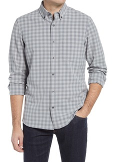 Nordstrom Trim Fit Stretch Check Button-Down Shirt