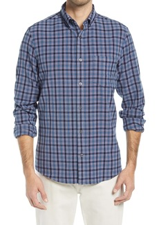 Nordstrom Trim Fit Stretch Check Flannel Button-Down Shirt