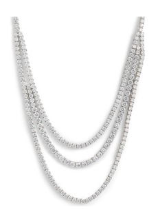 Nordstrom Triple Strand Tennis Necklace