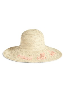 Nordstrom Wordplay Floppy Straw Sun Hat