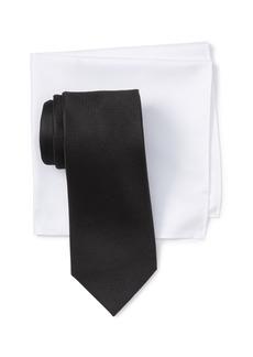Nordstrom Olenta Solid Silk Tie & Pocket Square Set