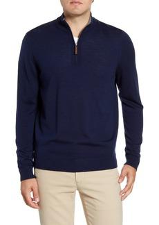 Nordstrom Quarter Zip Wool Pullover