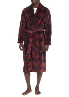 Nordstrom Red Shadow Fleece Robe