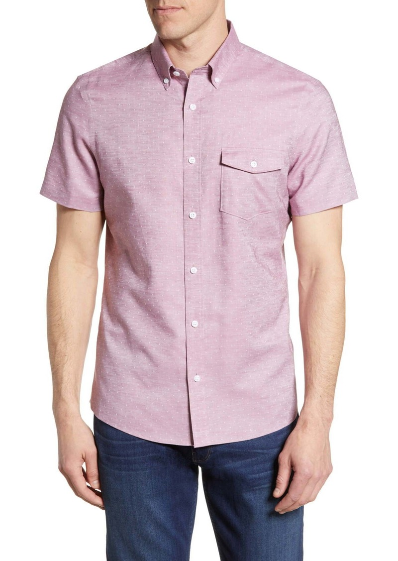 Nordstrom Slim Fit Short Sleeve Button-Down Shirt