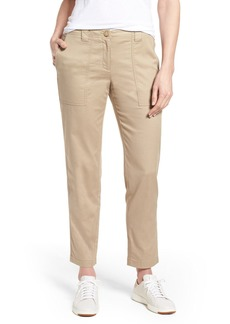 Nordstrom Stretch Cotton & Linen Ankle Pants
