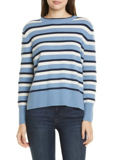 Nordstrom Stripe Cashmere High/Low Sweater