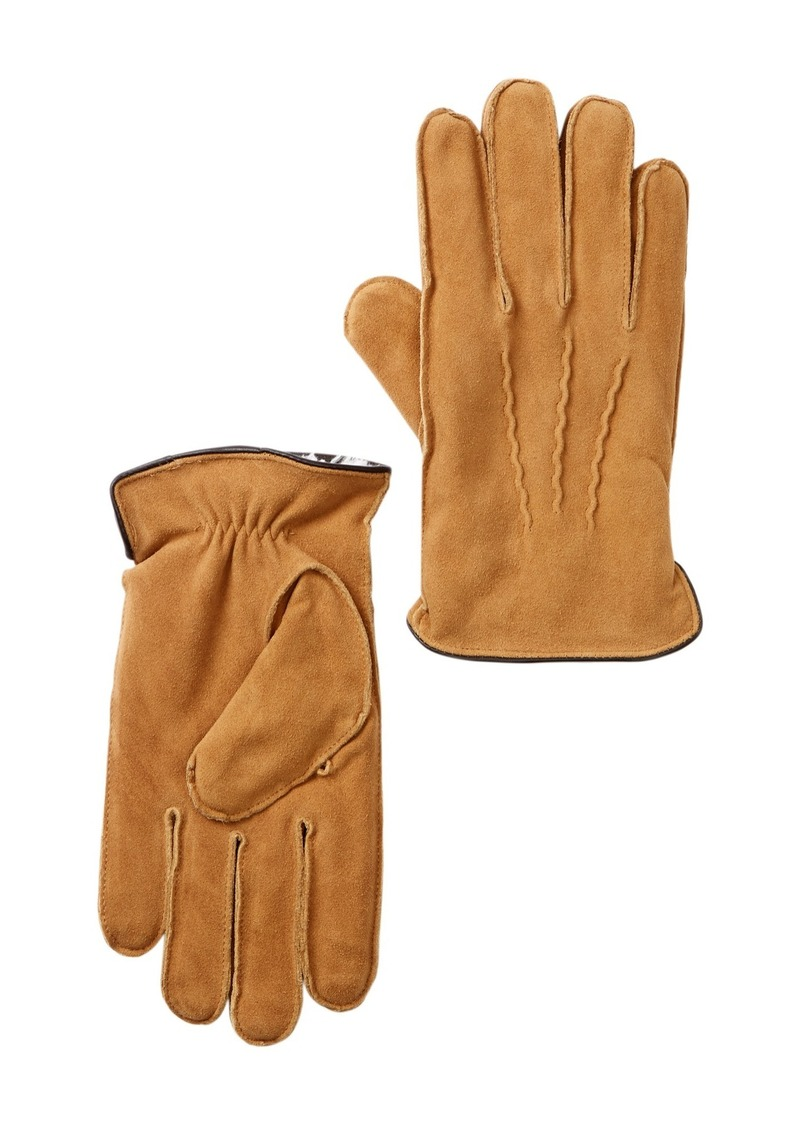 Nordstrom Suede Micropile Faux Fur Lined Gloves