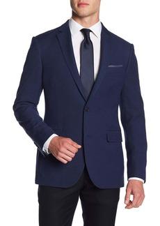 Nordstrom Textured Trim Fit Suit Separates Blazer