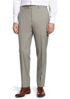 Nordstrom Torino Flat Front Solid Wool Dress Pants
