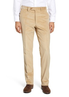 Nordstrom Torino Traditional Fit Flat Front Corduroy Trousers