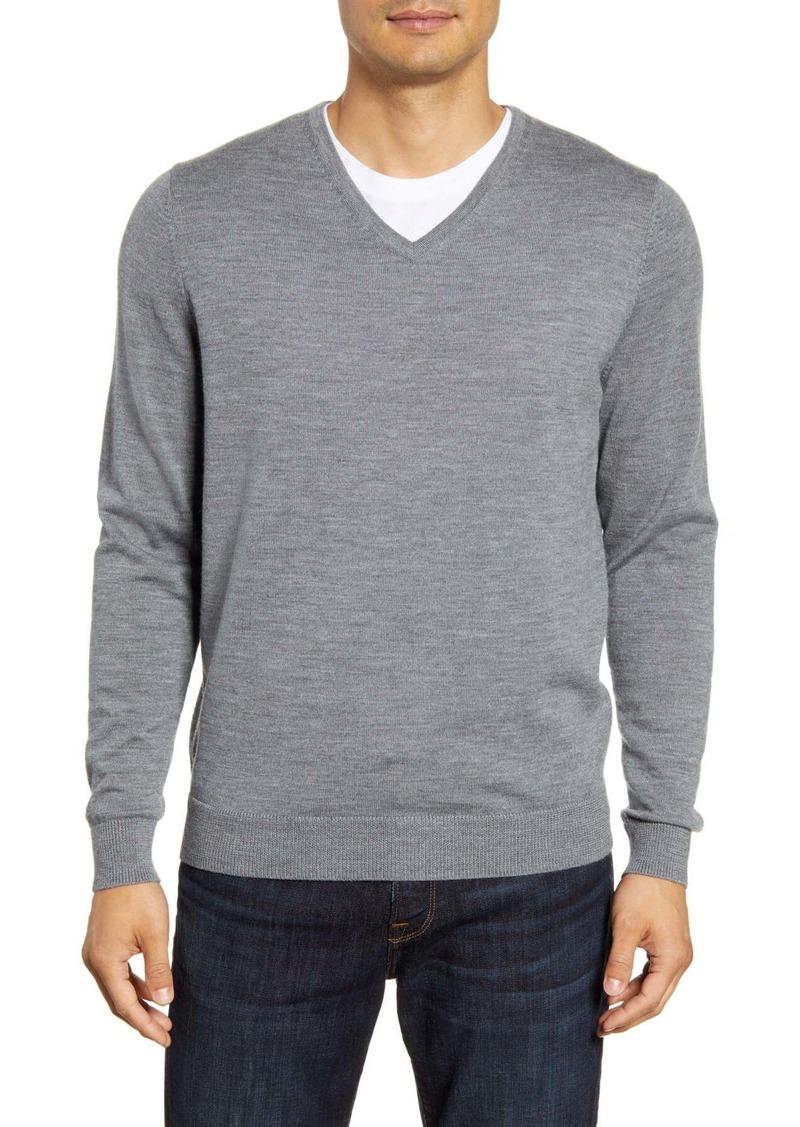 Nordstrom V-Neck Merino Wool Sweater (Regular & Tall)