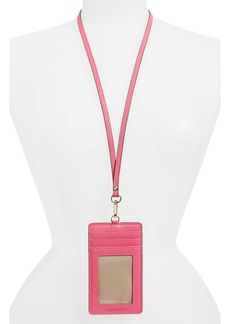 Women's Nordstrom Alessi Leather Lanyard Card Case - Pink