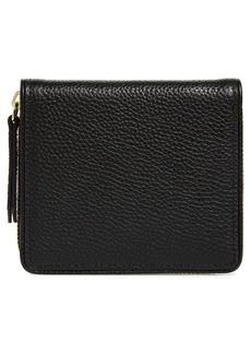 Women's Nordstrom Freida French Zip Around Wallet - Black