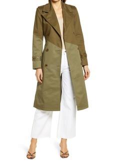 Women's Nordstrom Pieced Colorblock Trench Coat