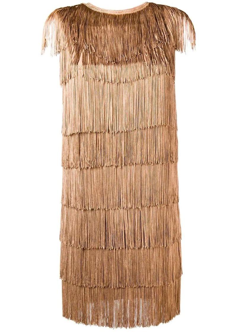 Norma Kamali all-over fringe mini dress