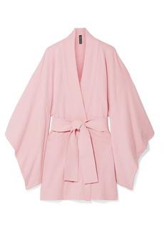 Norma Kamali Belted Cotton-blend Terry Kimono