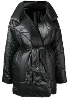 Norma Kamali belted padded coat