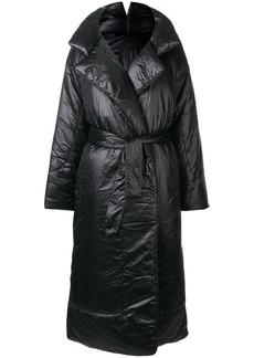 Norma Kamali belted padded oversized coat