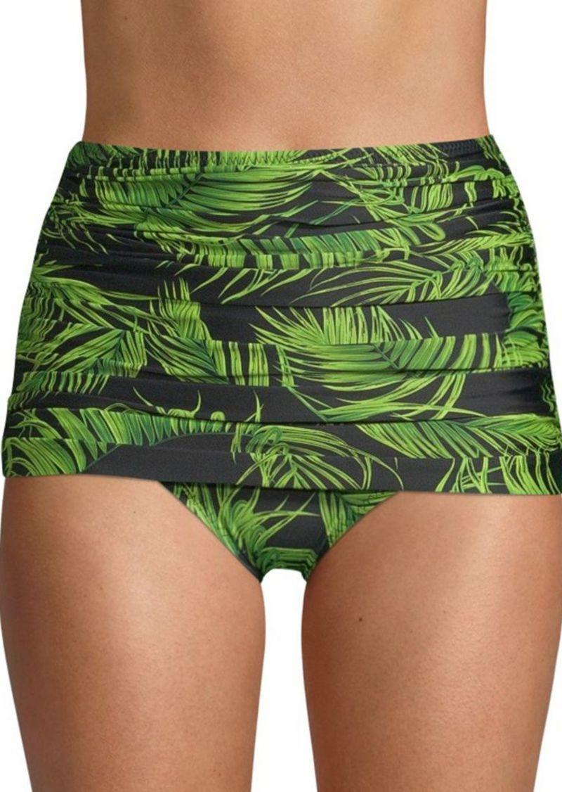 faeced0c19dc0 Norma Kamali Bill Palm Leaf Bikini Bottom