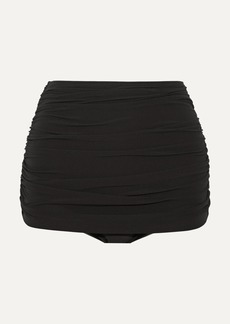 Norma Kamali Bill Ruched Bikini Briefs