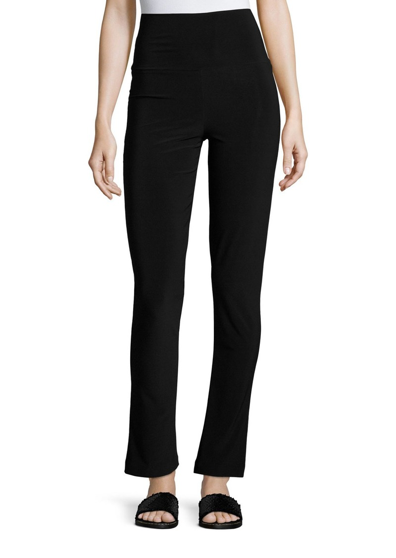Norma Kamali Boot-Cut High-Waist Pants  Black