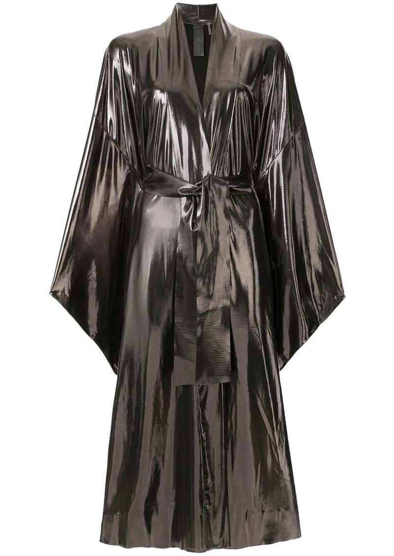 Norma Kamali bow-tied wrap dress