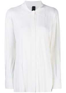 Norma Kamali concealed button shirt