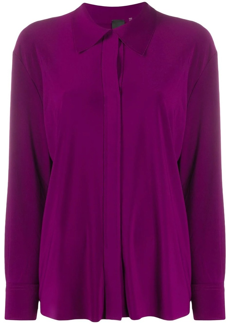Norma Kamali concealed-fastening shirt