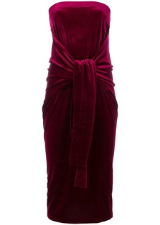 Norma Kamali contrast trim fishtail dress