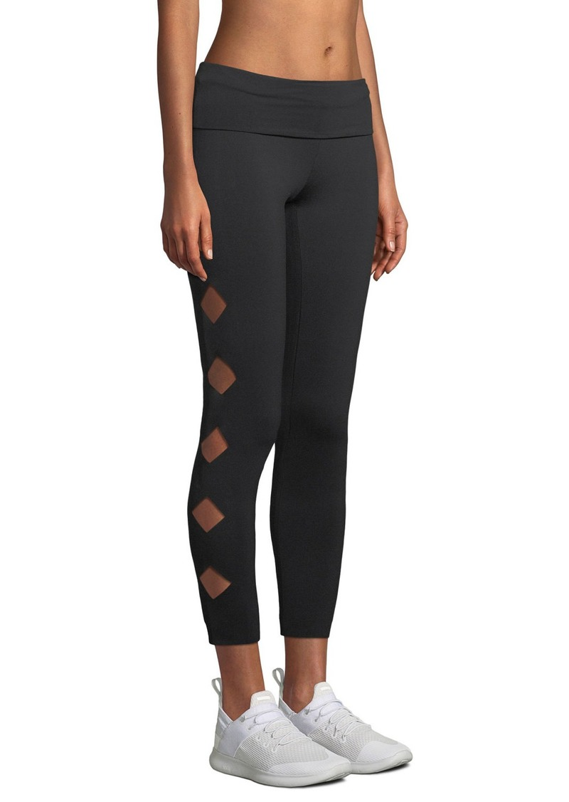 Norma Kamali Cutout Jersey Activewear Leggings