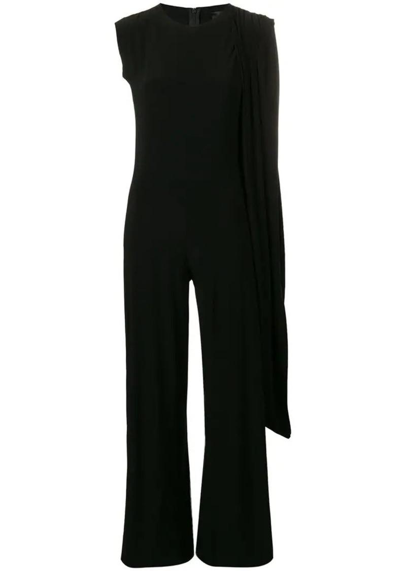 draped sleeveless jumpsuit
