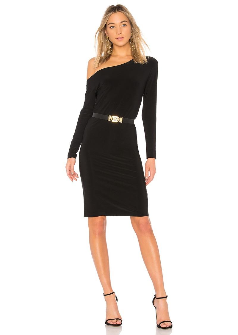 Norma Kamali Drop Shoulder Long Sleeve Dress