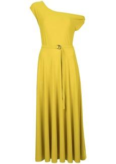 Norma Kamali dropped shoulder flared dress
