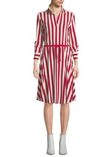 Norma Kamali Flared Knee-Length Shirtdress
