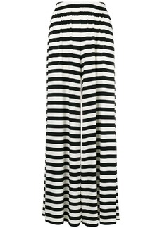 Norma Kamali flared striped trousers