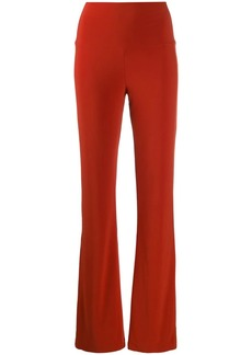 Norma Kamali high-rise flared trousers