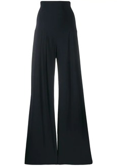 Norma Kamali high rise flared trousers