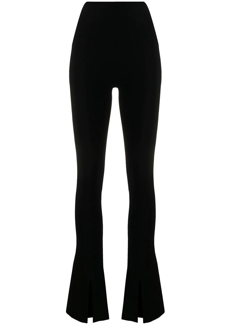 Norma Kamali high-waisted flared trousers